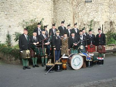 The Green Marching Pipe Band